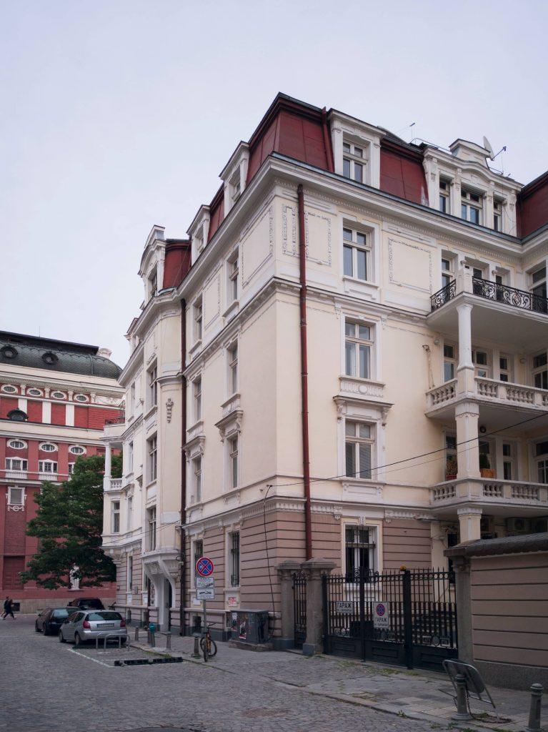 старо тухлено строителство в центъра на София