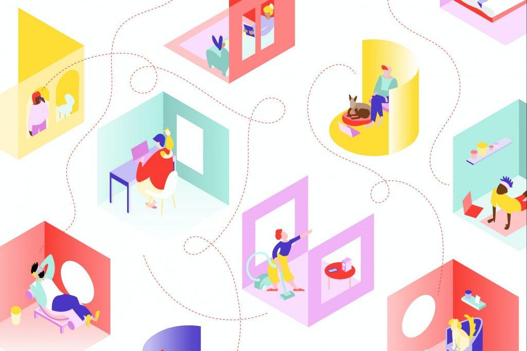 илюстрация на отделни помещения