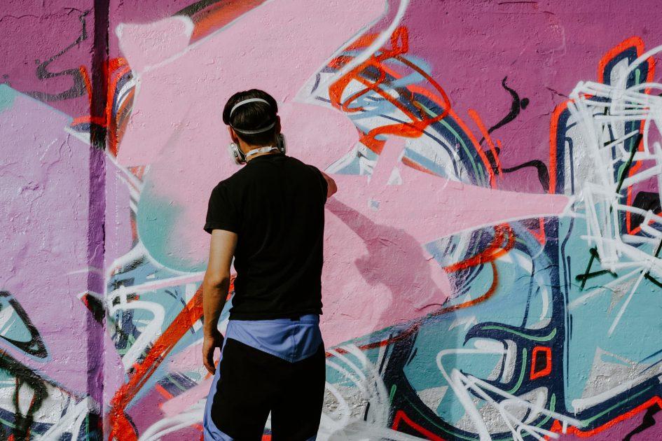 графити райтър в действие